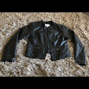 Xhilaration Black Vegan Leather Moto Jacket